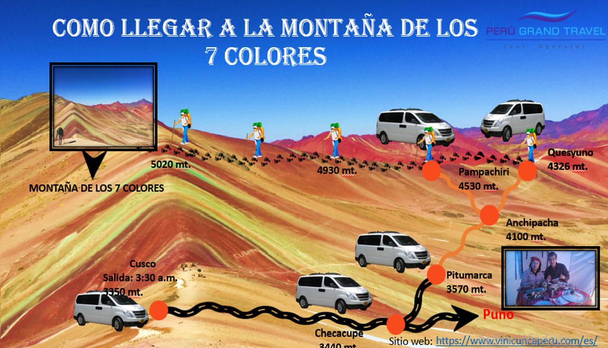 como llegar a la montaña de los 7 colores