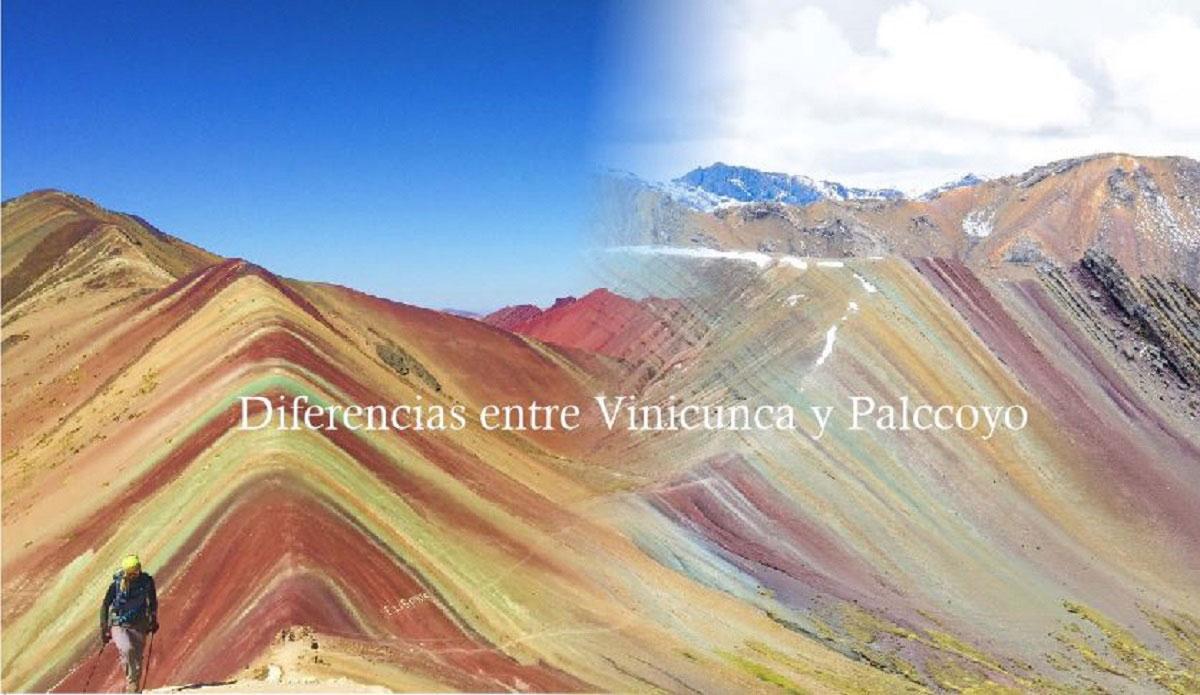 Diferencias entre Palccoyo y Vinicunca