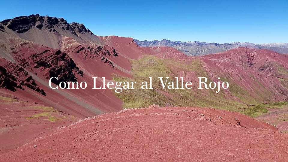 como llegar al valle rojo